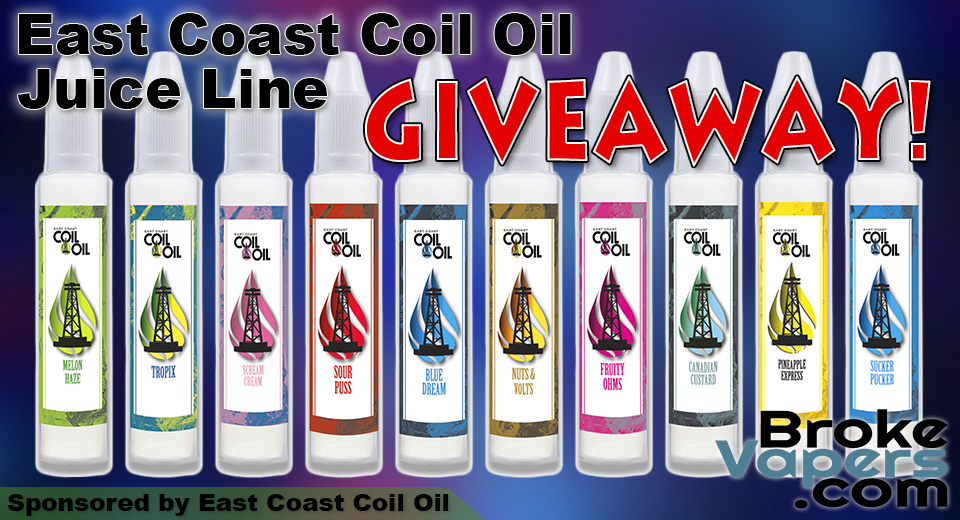 East Coast Coil Oil Juice Giveaway