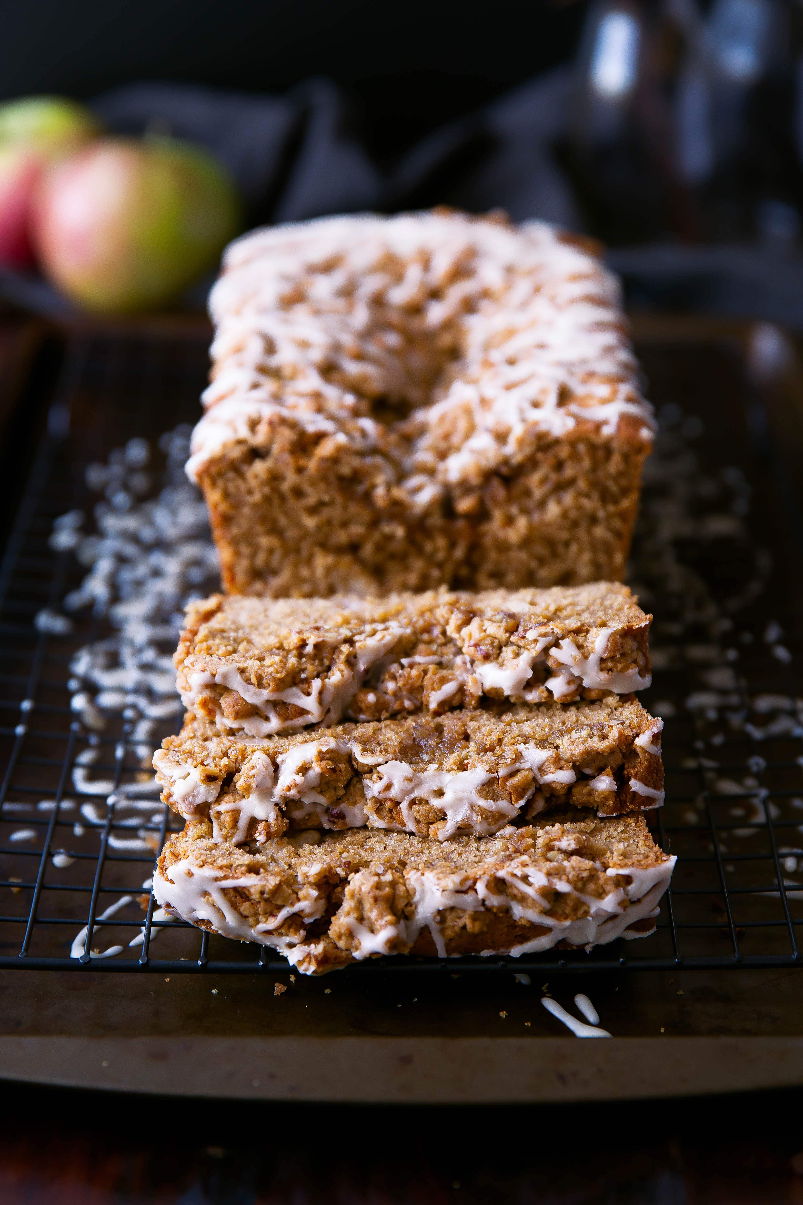 Sour Cream Apple Coffee Cake With Maple Pecan Streusel