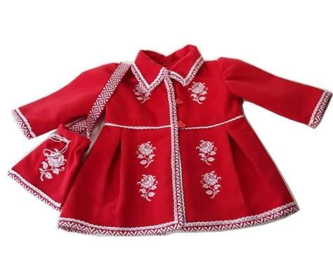 palton brodat popular copii