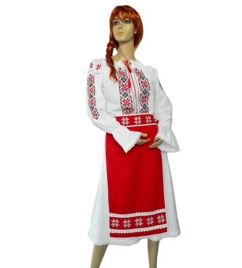 model costum popular rochie cu sort