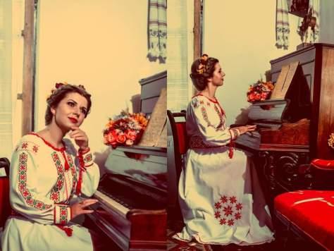 rochie de mireasa cu broderii traditionale