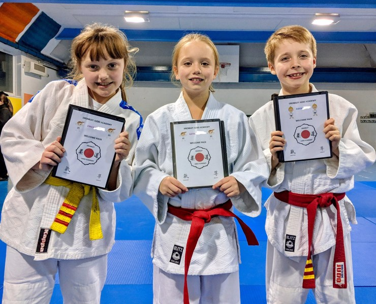 Bromley Judo Academy's judoka who have earned their welcome packs