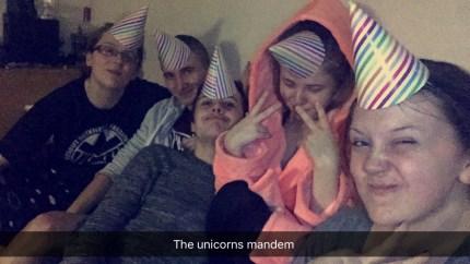 Amber, Ady, Josh, Bronagh and Becky - The Unicorns Mandem