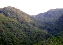 This are hill range. You can see waterfall in the distance.