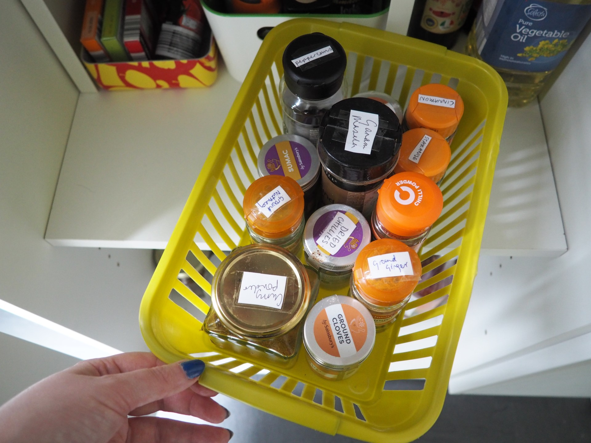 Spice storage organisation