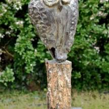 Bronzen uil op schors(brons), UNICA