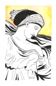 Day 4: Maenad No 3 Postcard