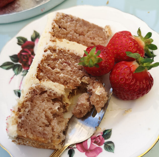Roasted Strawberry and Balsamic Cake