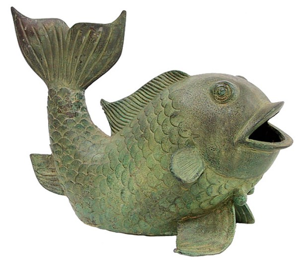 Bronze Fish Fountain Spitter