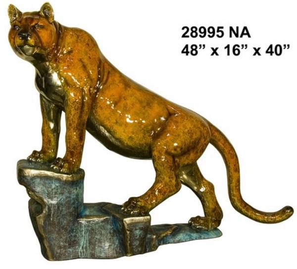 Bronze Puma Mascot Statues