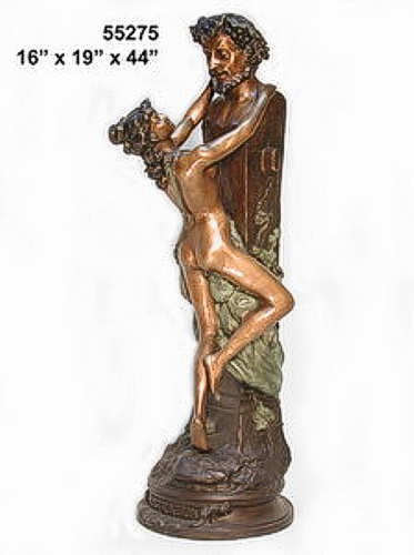 Bronze Nude Lady Statues