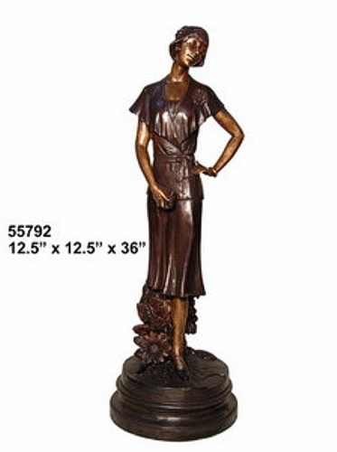 Bronze Fashion Lady Statues