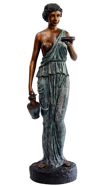 Bronze Lady Urn Fountain