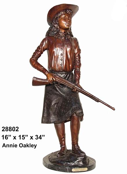 Bronze Annie Oakley Statue