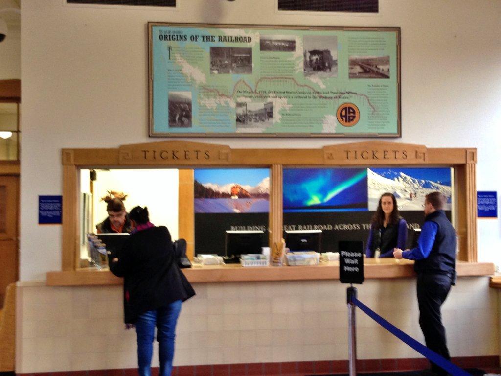 阿拉斯加自由行 - 阿拉斯加冬季極光列車售票處