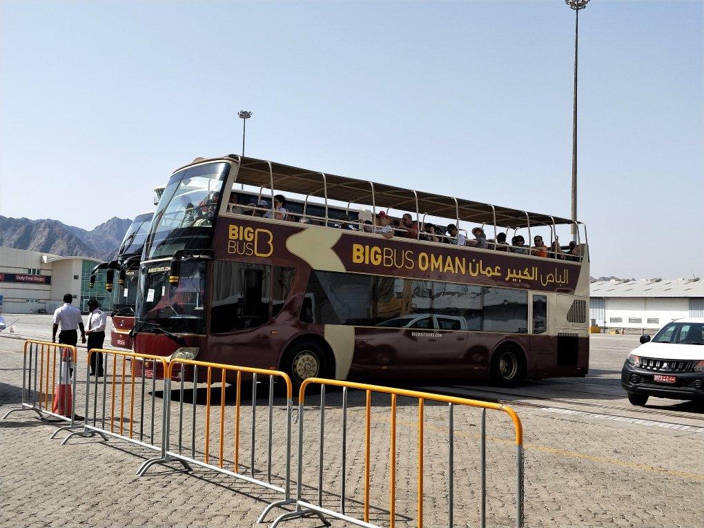 MSC輝煌號 - 阿布達比港口外的 Hop on Hop off 觀光巴士