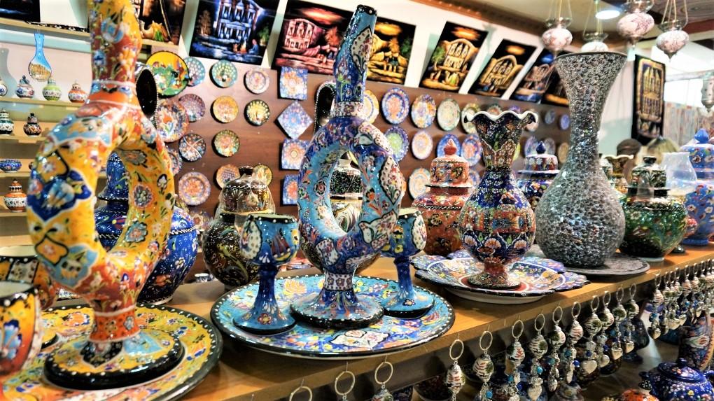 約旦佩特拉一日遊 - 前往佩特拉途中販賣紀念品的休息站