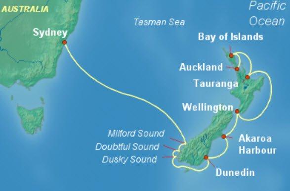2019年寒假過年郵輪推薦二 雪梨出發航向紐西蘭
