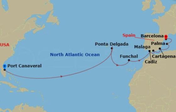 NCL Epic 航程圖