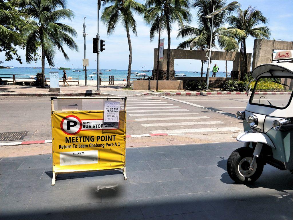 曼谷岸上自由行 - 回程上车地点