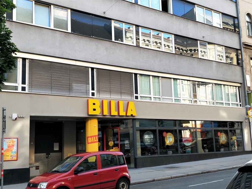 維也納中央車站住宿 - 飯店對面連鎖大型超市 (Billa)