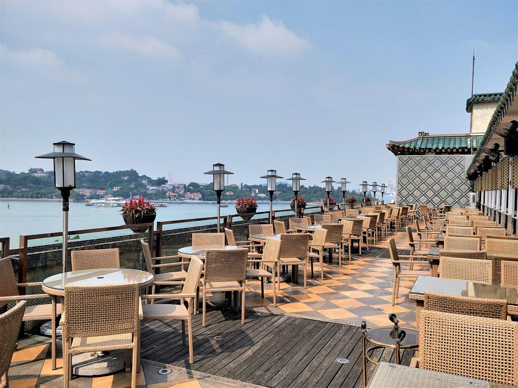 鷺江賓館六樓的觀海餐廳