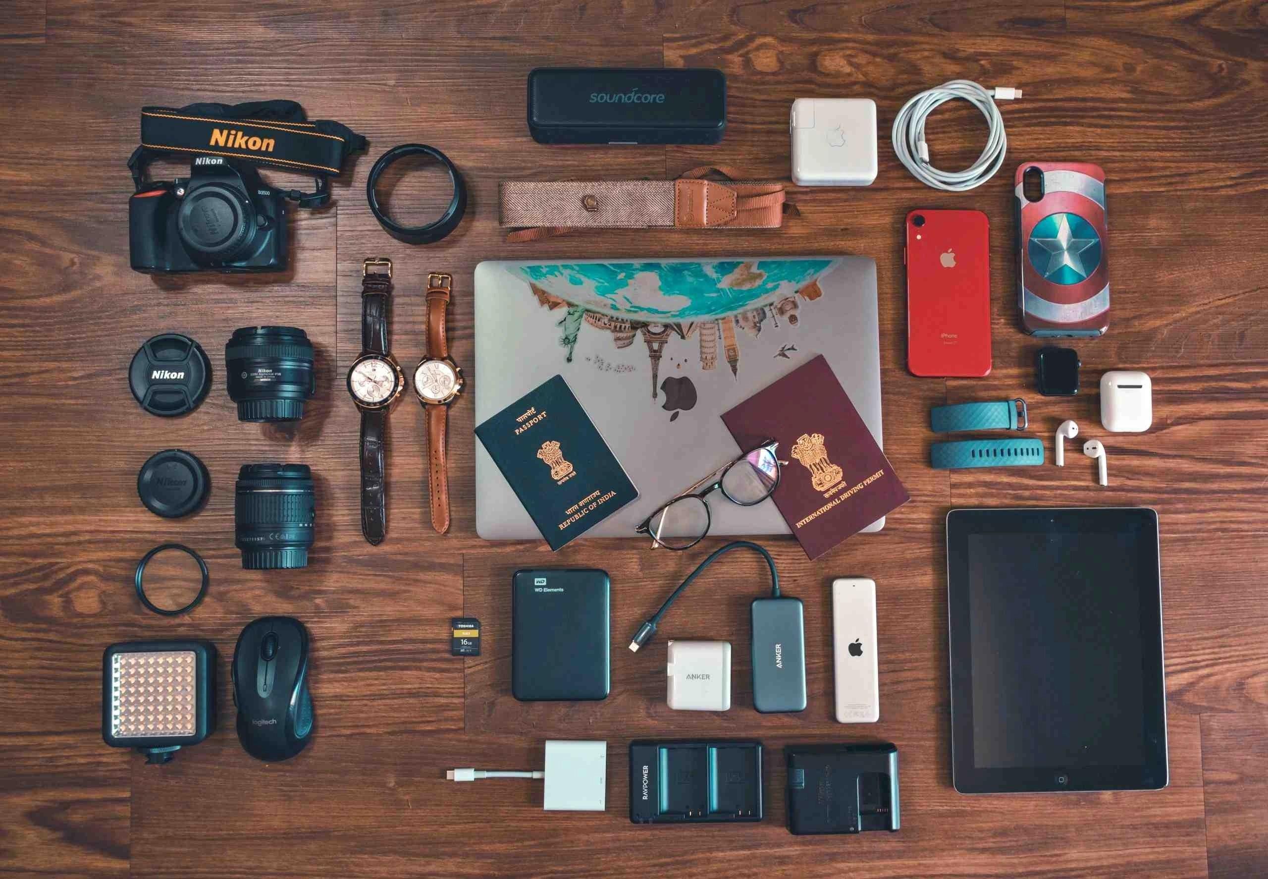 郵輪禁止攜帶物品 - 一大堆3C產品都需要充電