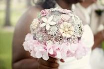 enamel broach hygrangea diy wedding bride unique