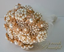 #broochbeautiful vintage antique heirloom jewelry bride wedding, ivory, gold, white, unique, satin, silk,