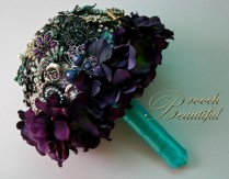bling brooch broach vintage classic unique forever bouquet bridal #broochbeautiful antique hydrangea