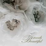 Winter White Handmade Peony Bouquet Lion Personalize Broochbeautiful