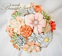 Coral Mint brooch bouquet web8