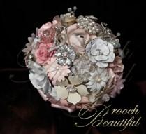 Vintage Pink Brooch bouquet web2