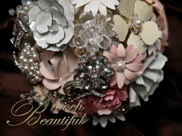 Vintage Pink Brooch bouquet web5