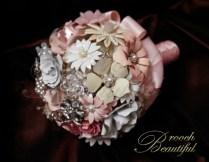Vintage Pink Brooch bouquet web6
