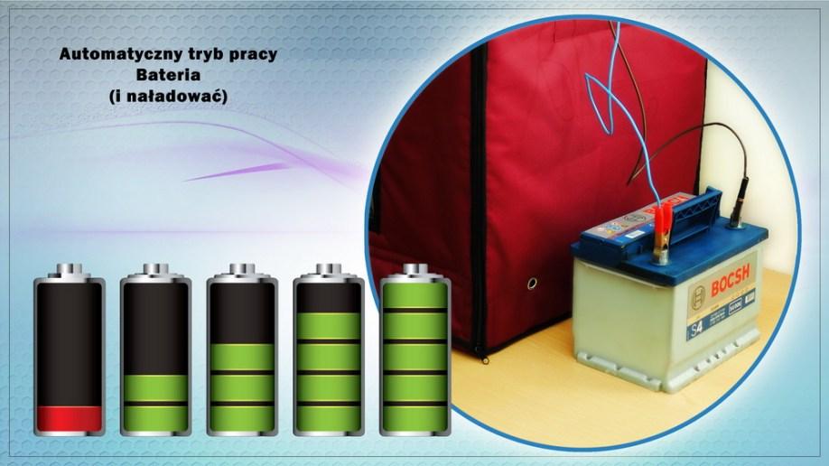 Automatyczny tryb pracy baterii z baterią Incubator Broody Zoom