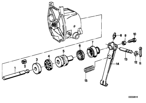Clutch Throw-out Arm and Bearing Detail