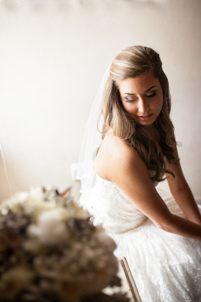 bride in window light