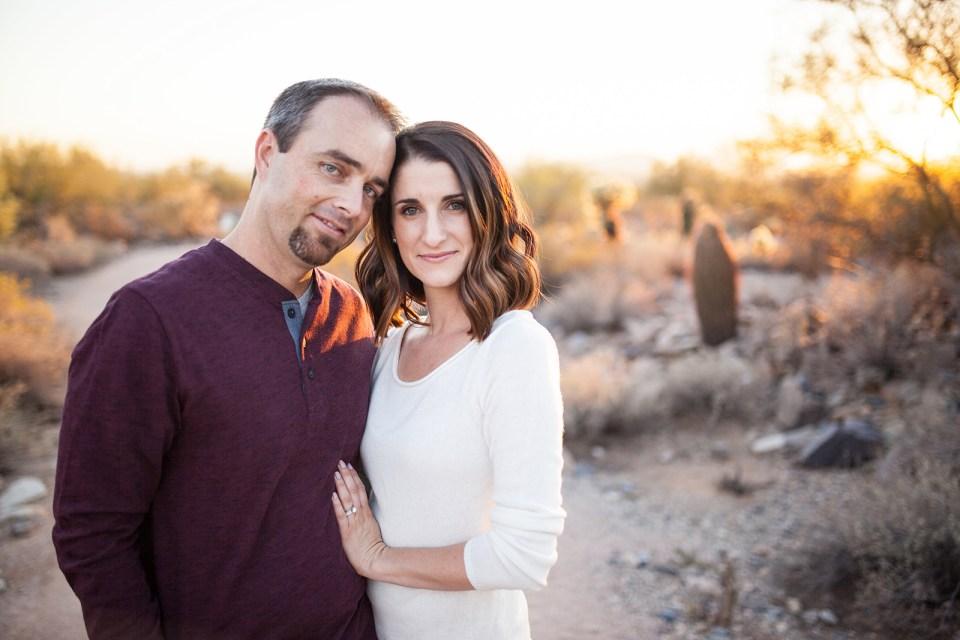 Winter Desert Family Portraits - B Focused Photography & Design