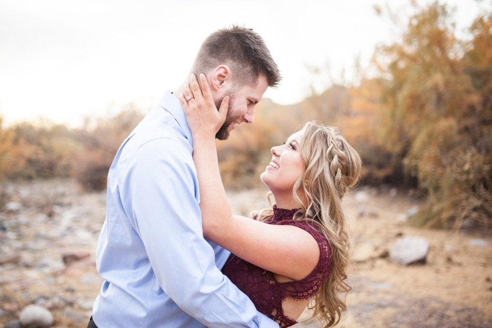 Arizona Salt River Sunset Engagement Photos