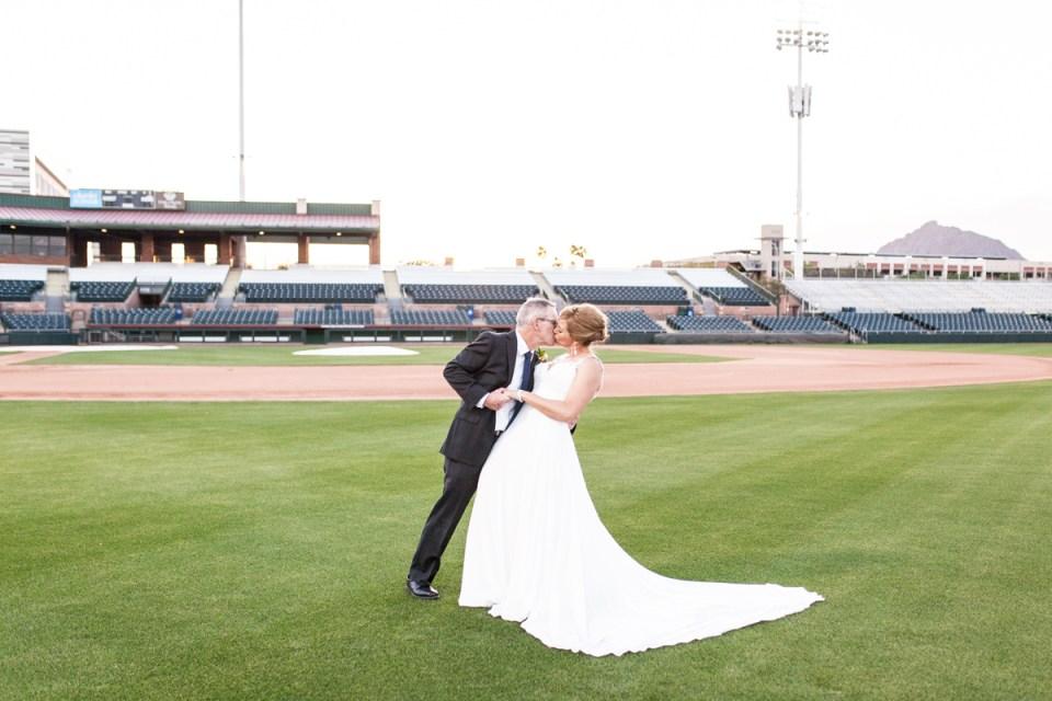 scottsdale arizona wedding charro baseball stadium wedding