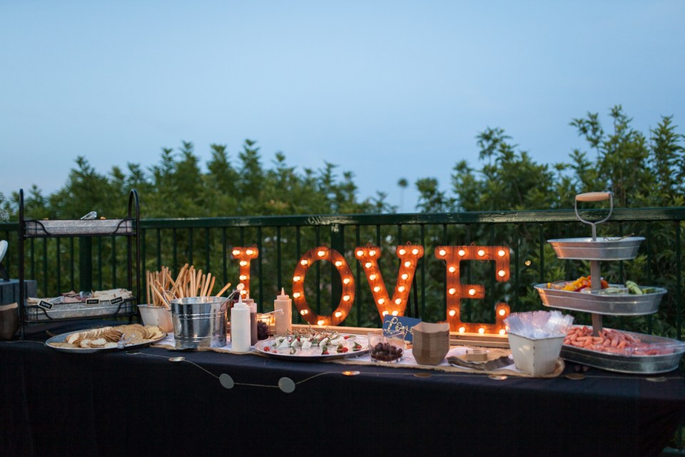 wedding reception decor love marquee sign