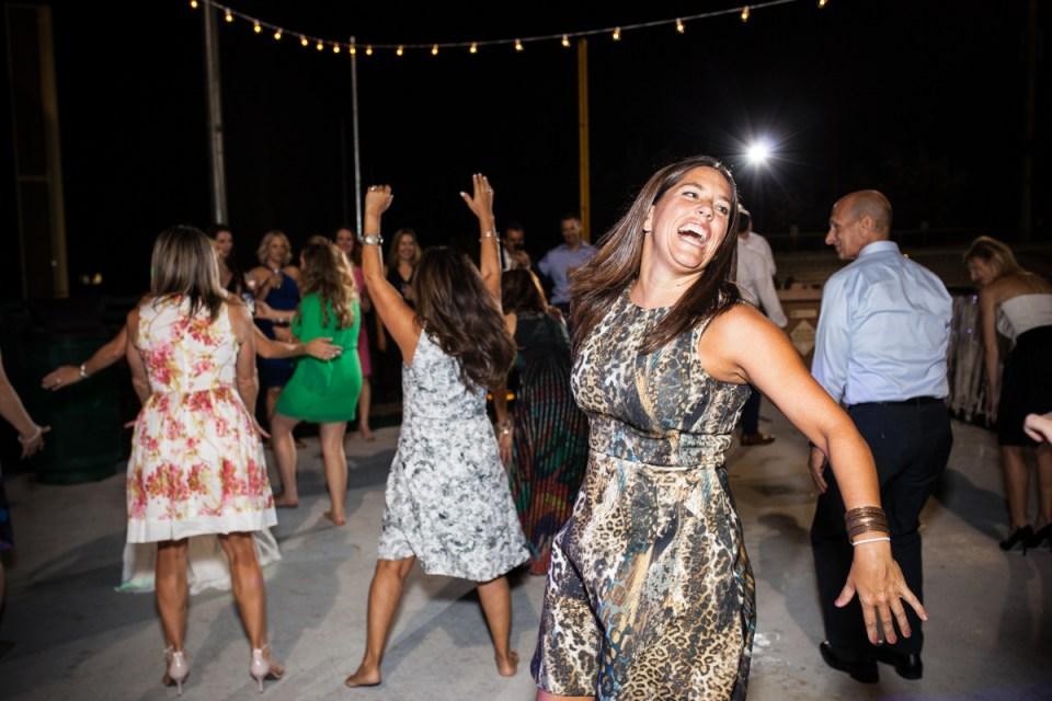 guests dancing at wedding reception