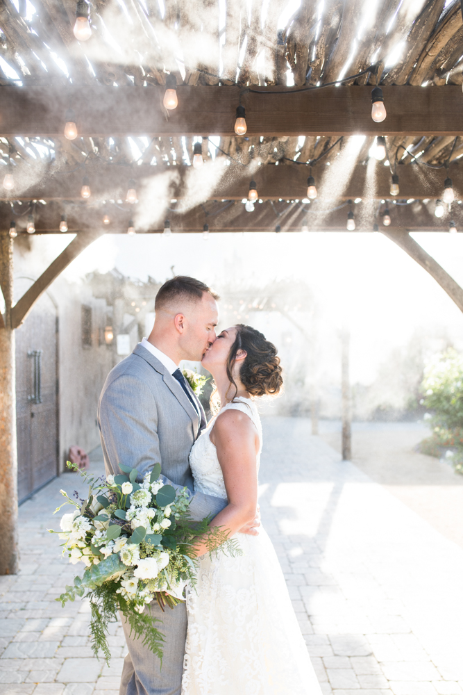 bride and groom Temecula winery wedding