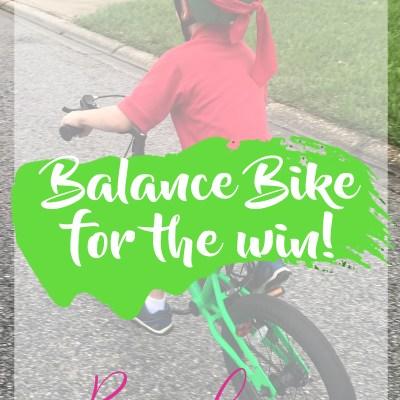 Skip the Training Wheels – GET the Balance Bike!