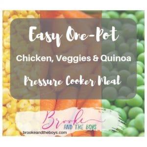 Pressure Cooker Chicken Veggie Quinoa