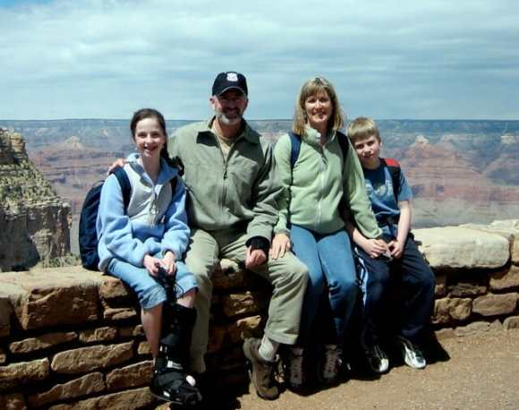 Family trip to the Grand Canyon circa 2007