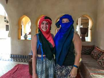 Katy and I are prepared for the desert