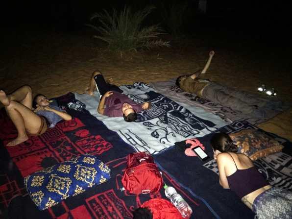 Sleeping under the desert stars