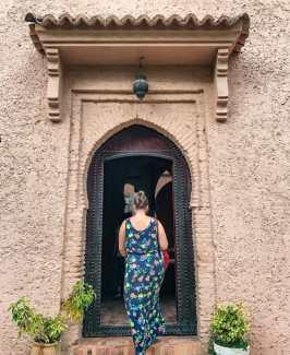 Katy walking into the Kasbah